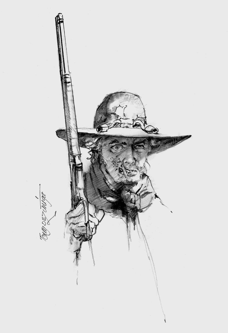 Jonah Hex Pinup (SOLD LIVE ON 'DUELING DEALERS OF COMIC ART' EPISODE #39 PODCAST ON 10-4-2021(RE-WATCH THIS FUNNY ART SELLING SHOW HERE)