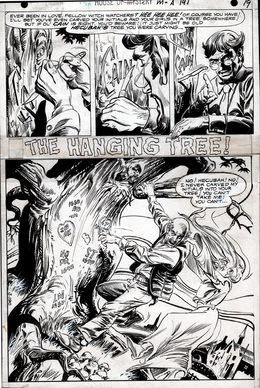 House of Mystery #191 p 1 SPLASH (FULL PENCILED SPLASH UNDER PUBLISHED SPLASH!) 1970