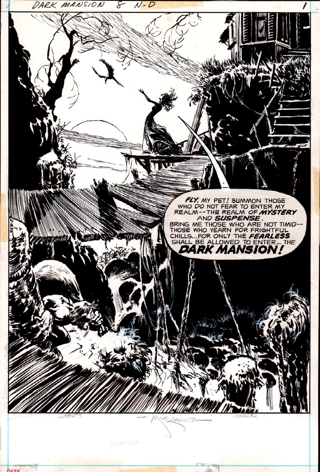 Forbidden Tales of Dark Mansion #8 p 1 Frontis SPLASH (1972)