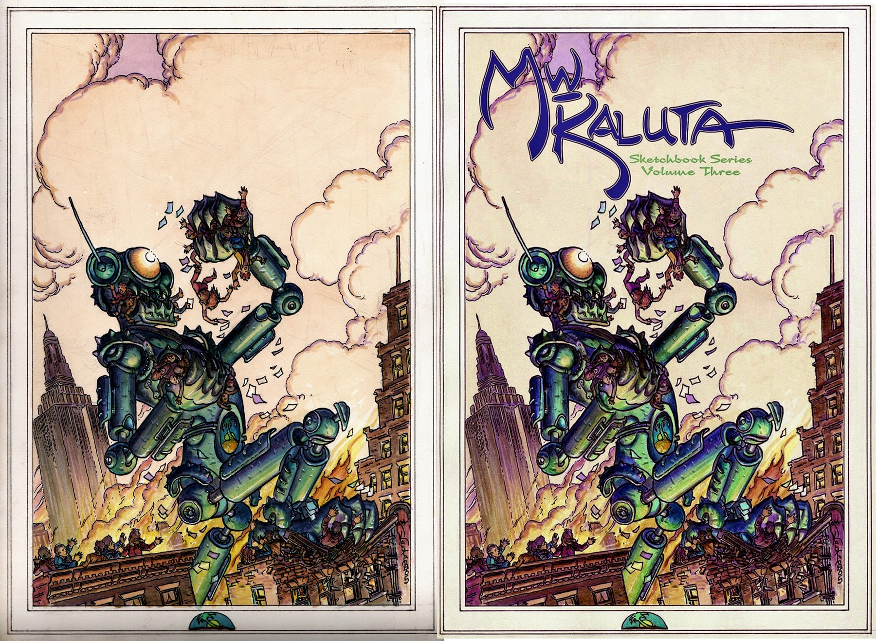 Michael Kaluta 'Robot Rampage' Published Cover (2005)
