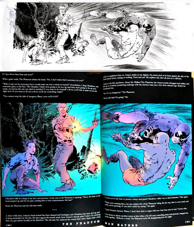 The Phantom: Man Eaters Novel Horizontal P 58-59 DPS (2006)