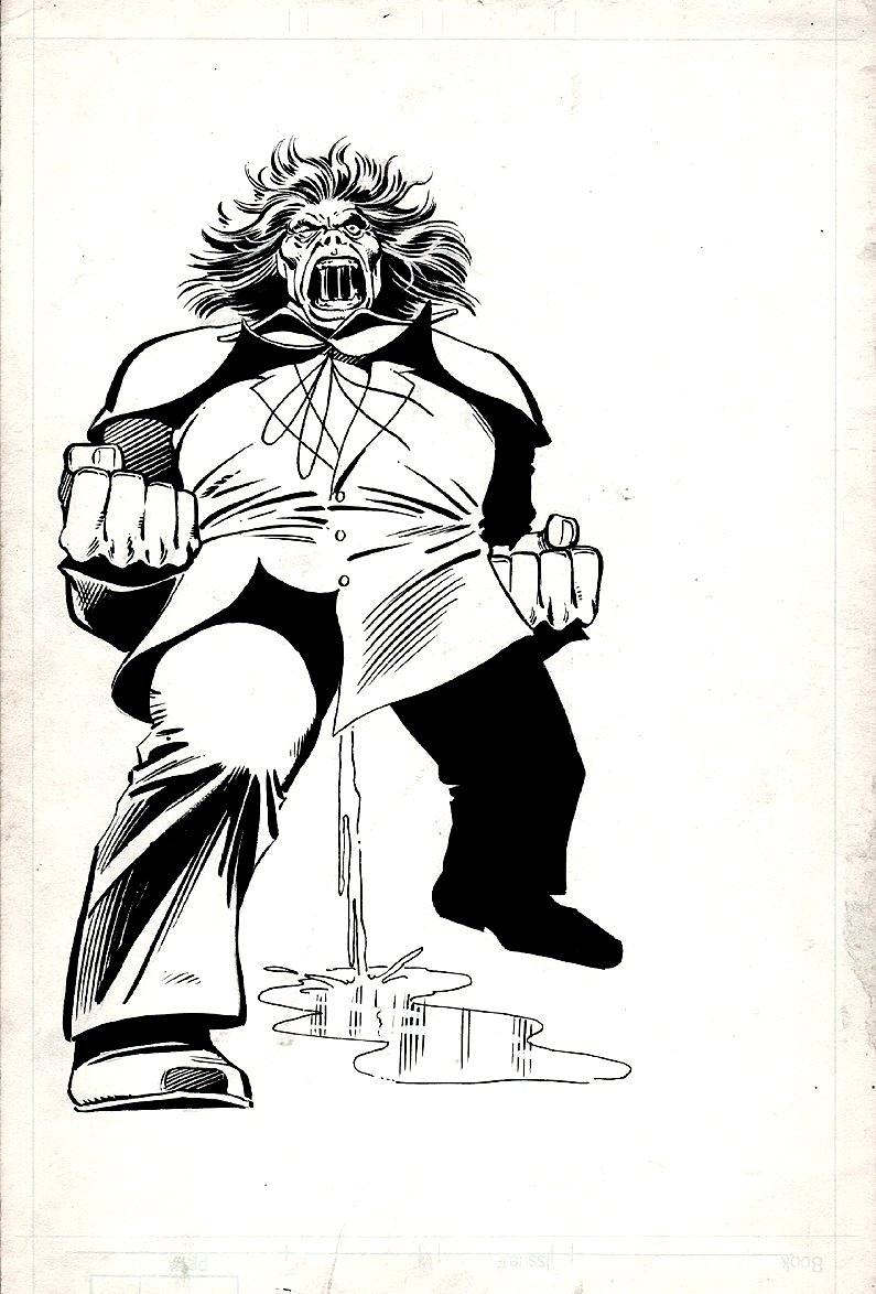 Official Handbook of the Marvel Universe #7 Mr. Hyde Pinup (Very Similar To Amazing Spider-Man #232 Cover) 1983