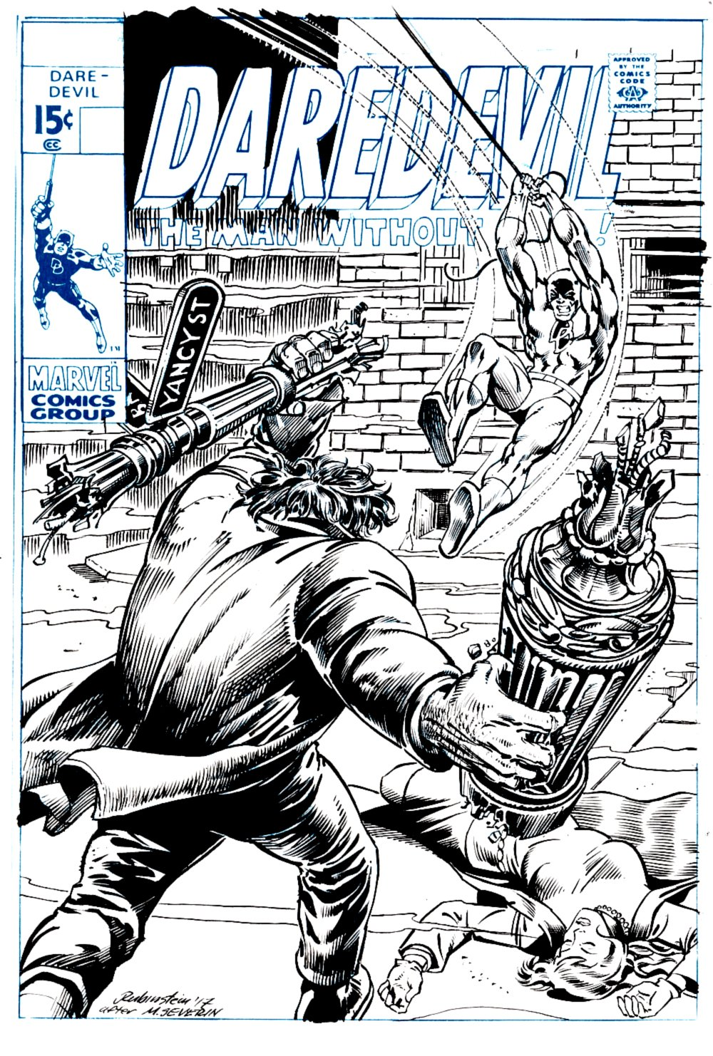 Daredevil #65 Cover Recreation (Daredevil Battles Brother Brimstone!) 2017