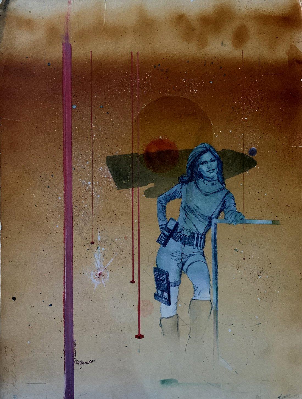 Marvel Super Special #8 (Battlestar Galactica Treasury -Maren Jensen as Lieutenant Athena Painted Pinup)