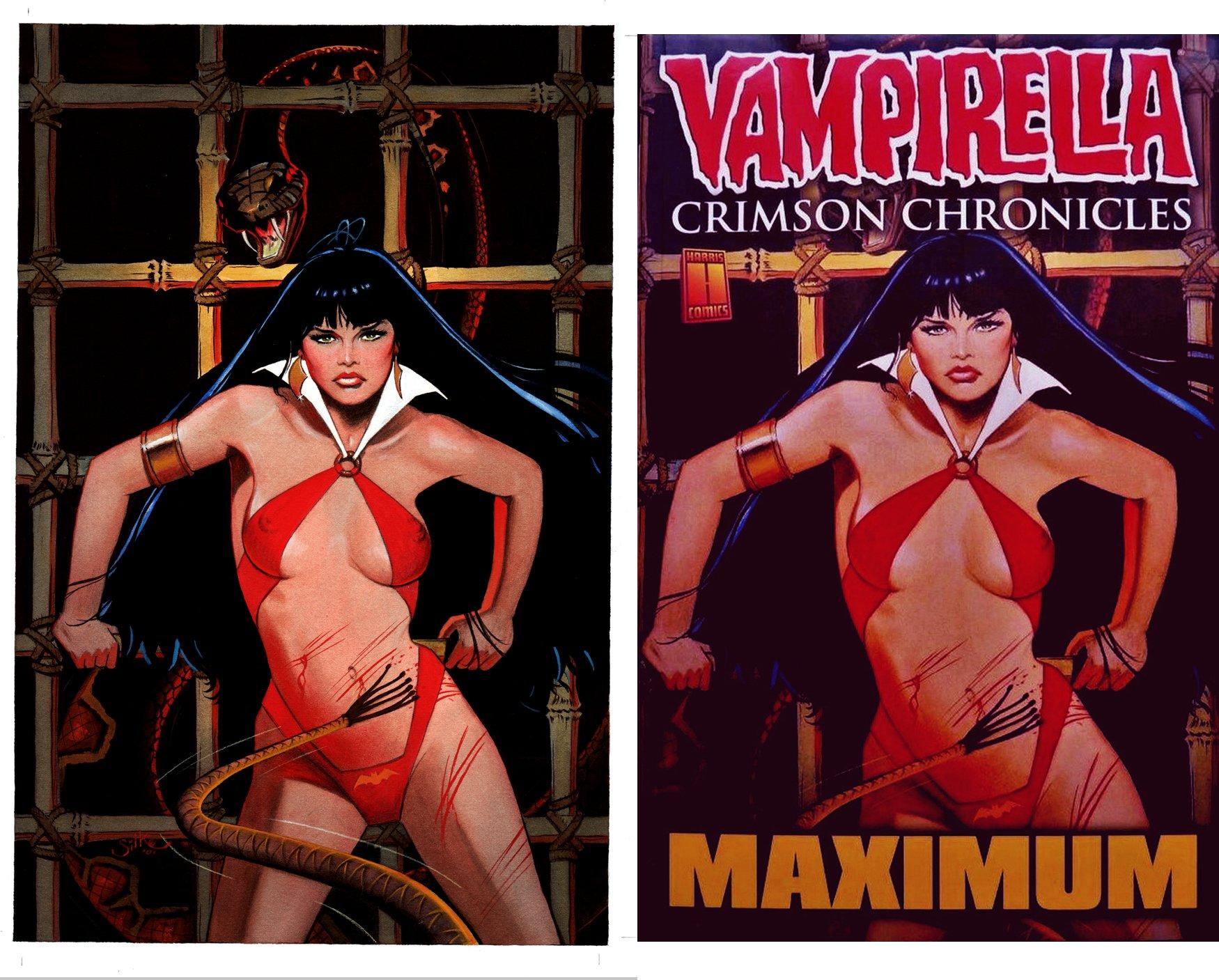 Vampirella Crimson Chronicles #1 Cover Painting (2001)