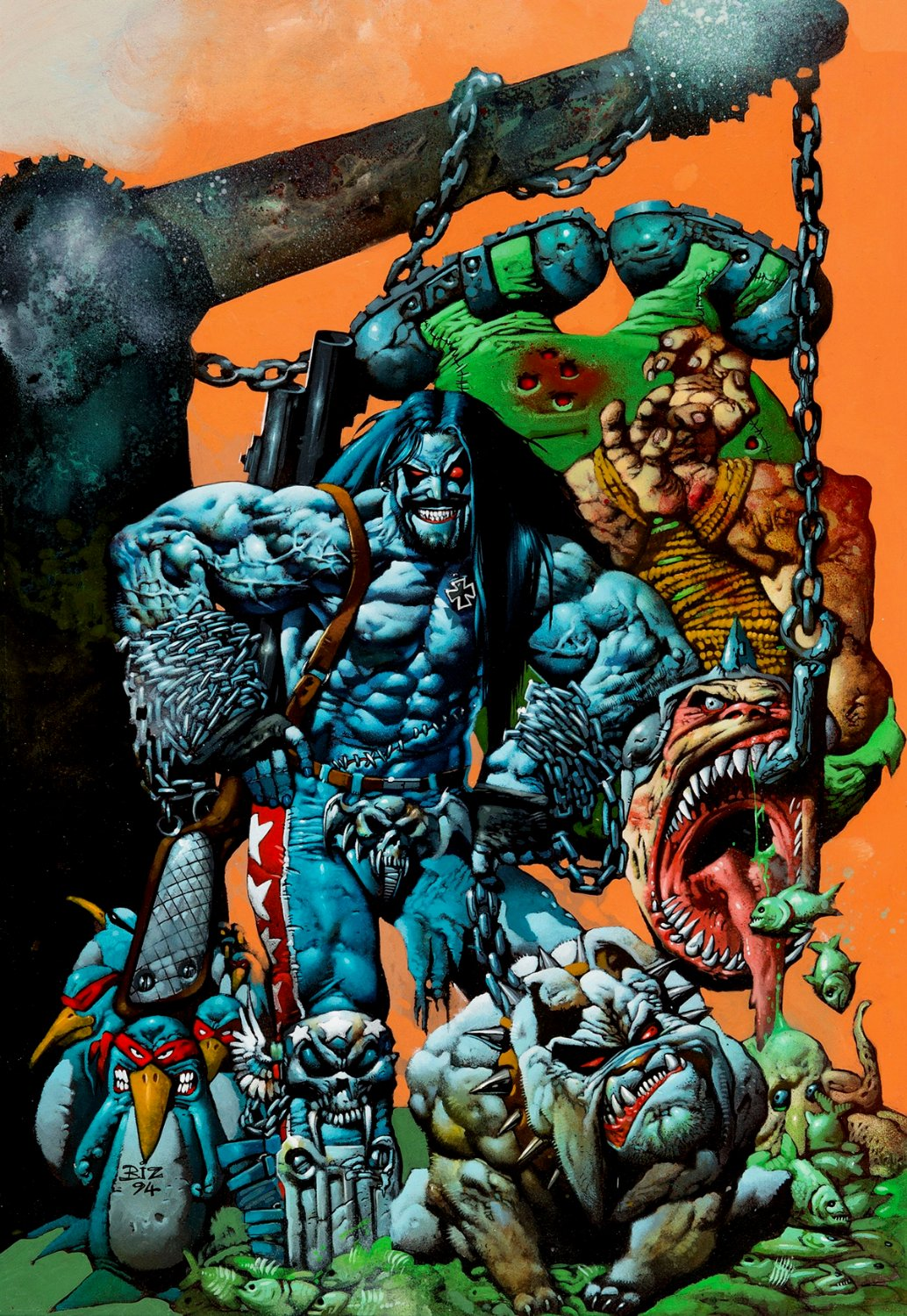 Lobo: Bounty Hunting for Fun and Profit Cover (LARGE & FRICKIN PHENOMENAL) 1994)