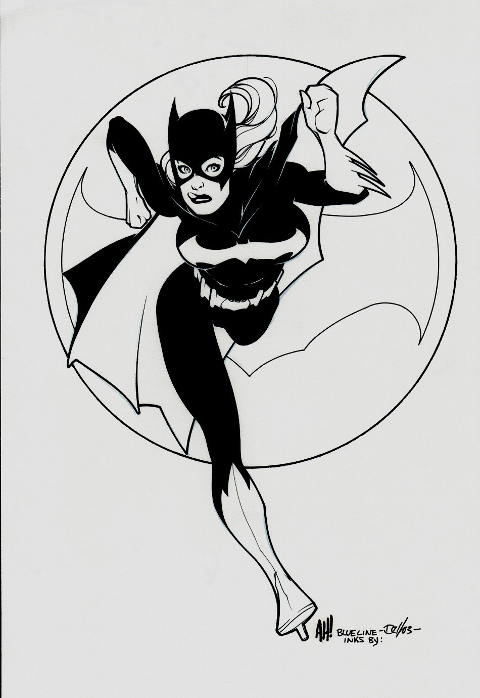 Sexy Bat-Girl Pinup (Light boxed From Adam Hughes Pinup) 2003