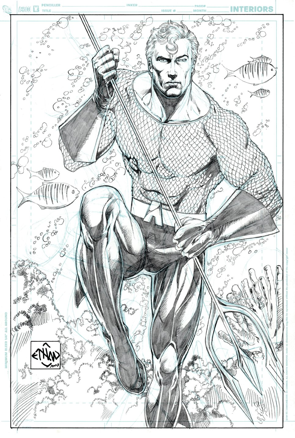 Aquaman Detailed Large Pinup (2008)