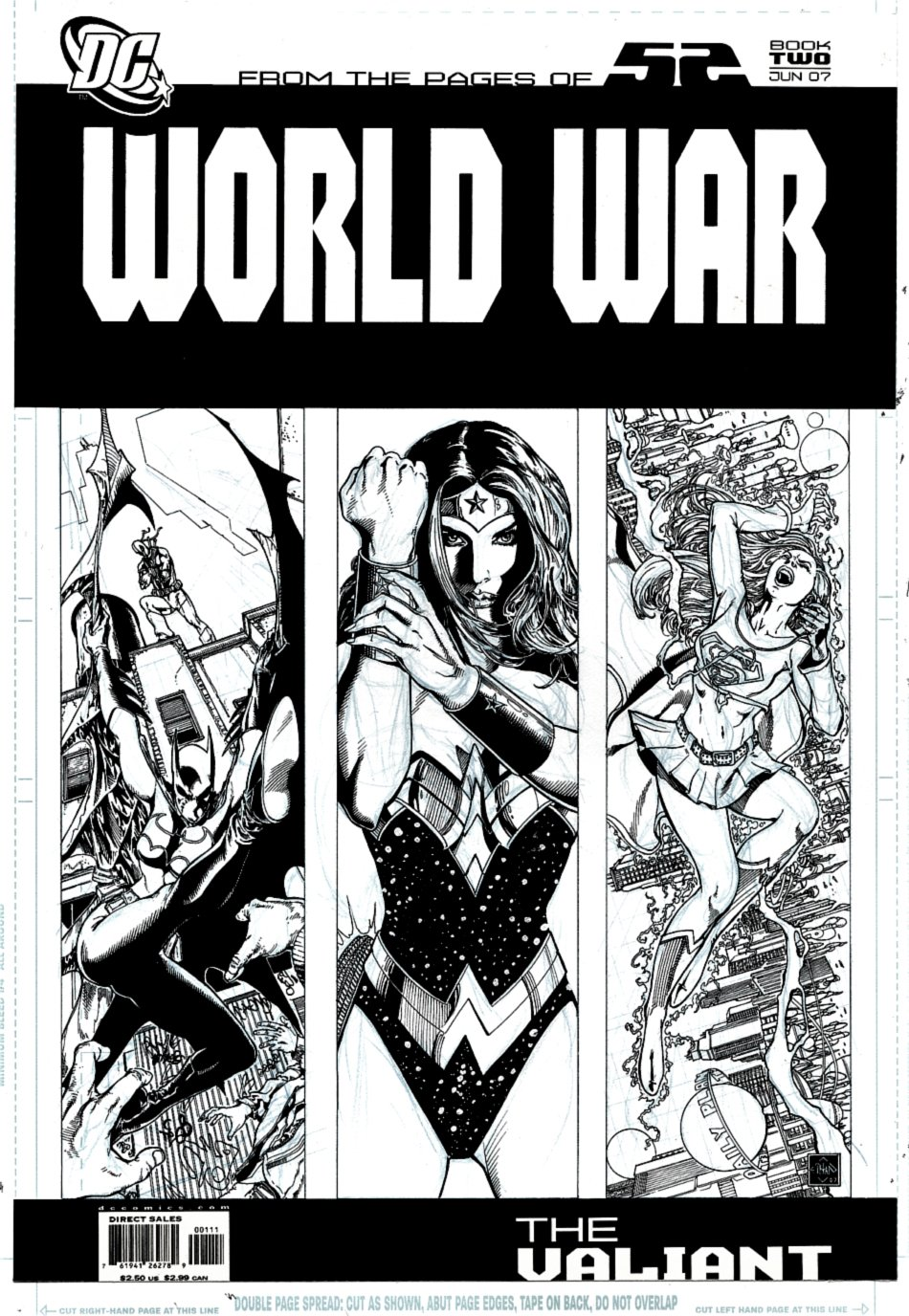 World War II #2 Cover (Batgirl, Wonder Woman, Supergirl) 2007