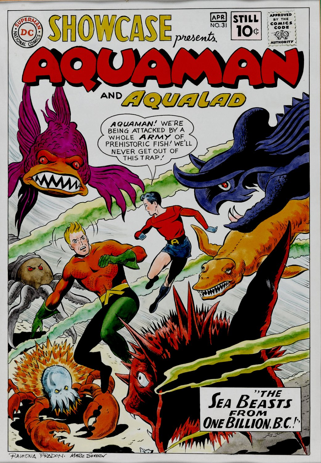 Showcase #31 Cover Recreation (2nd Aquaman Solo Issue!) 1990s