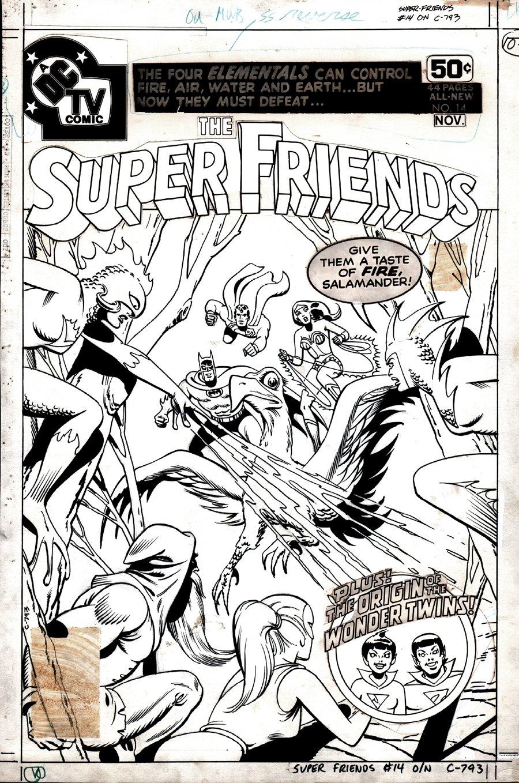 Super-Friends #14 Cover (Superman, Batman, Wonder Woman!) 1978