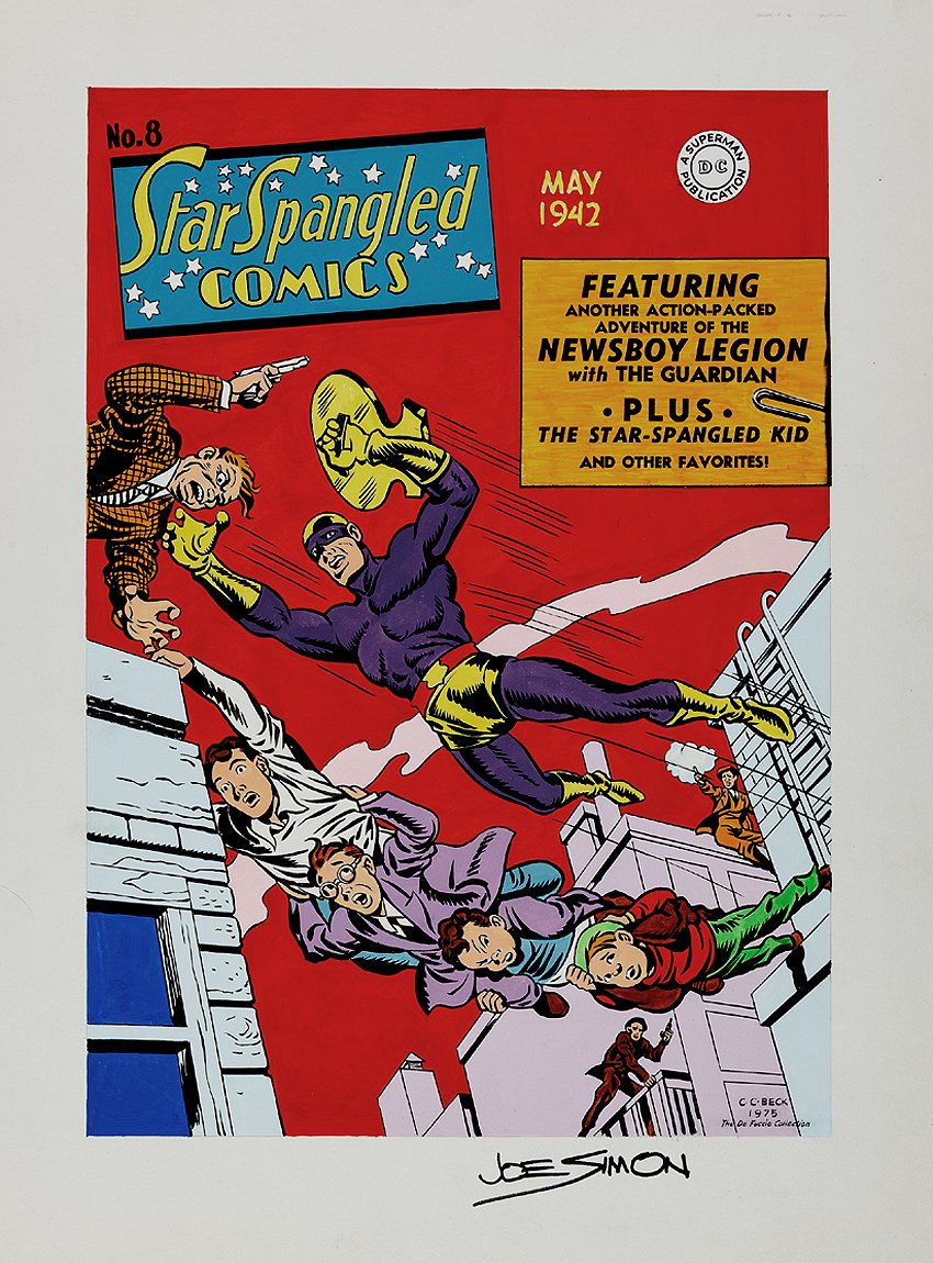 Star Spangled Comics #8 Cover Recreation (1975)