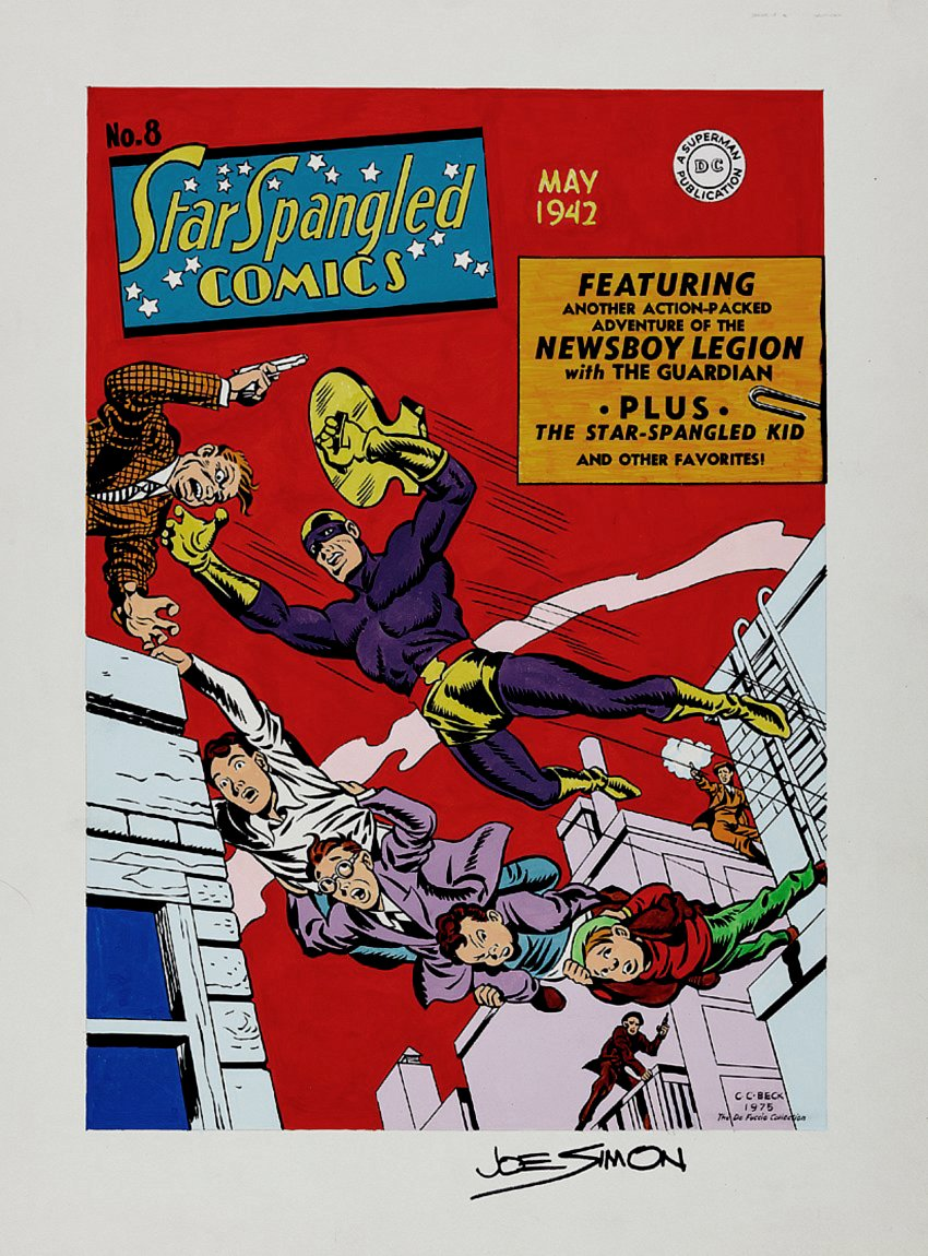 Star Spangled Comics #8 Cover Recreation (1975)