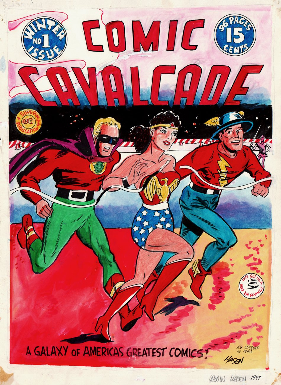 Comic Cavalcade #1 Large Cover Recreation (1997)