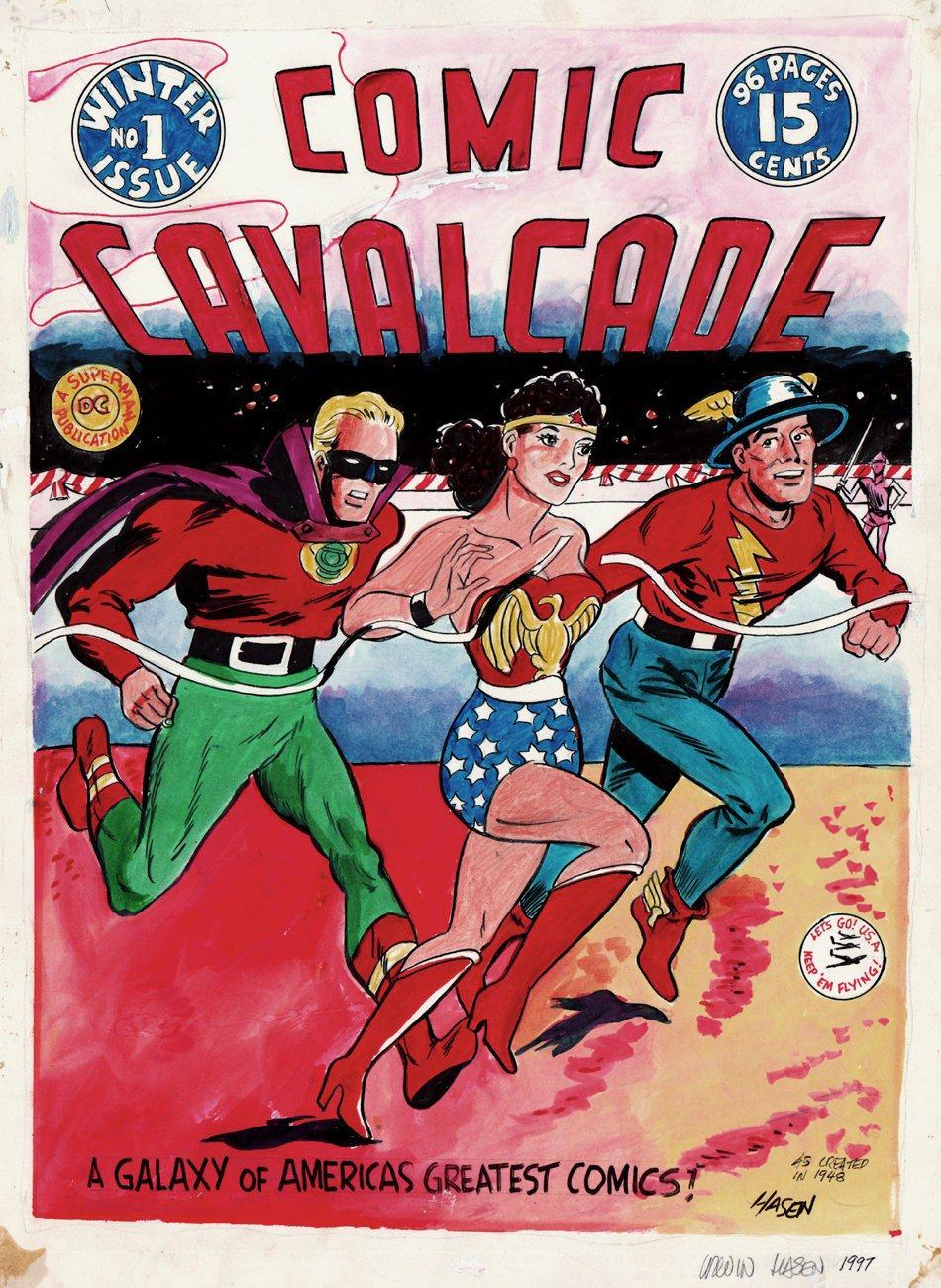 Comic Cavalcade #1 Large Cover Recreation (1997)