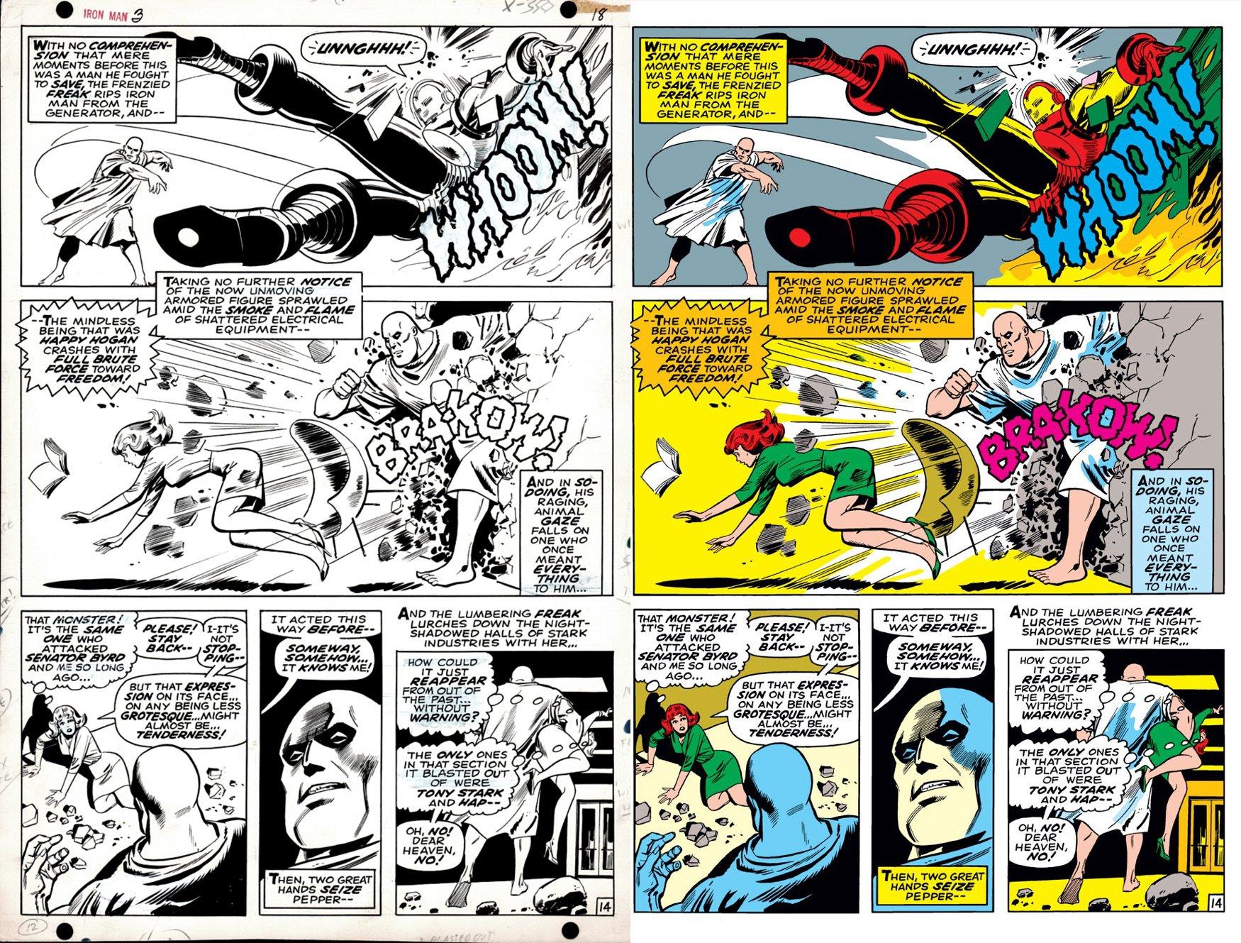 Iron Man #3 p 14 (IRON MAN BATTLES THE FREAK!) 1968