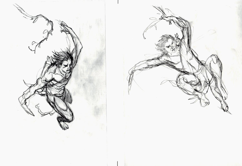 2 Tarzan Pencil Prelim Drawings