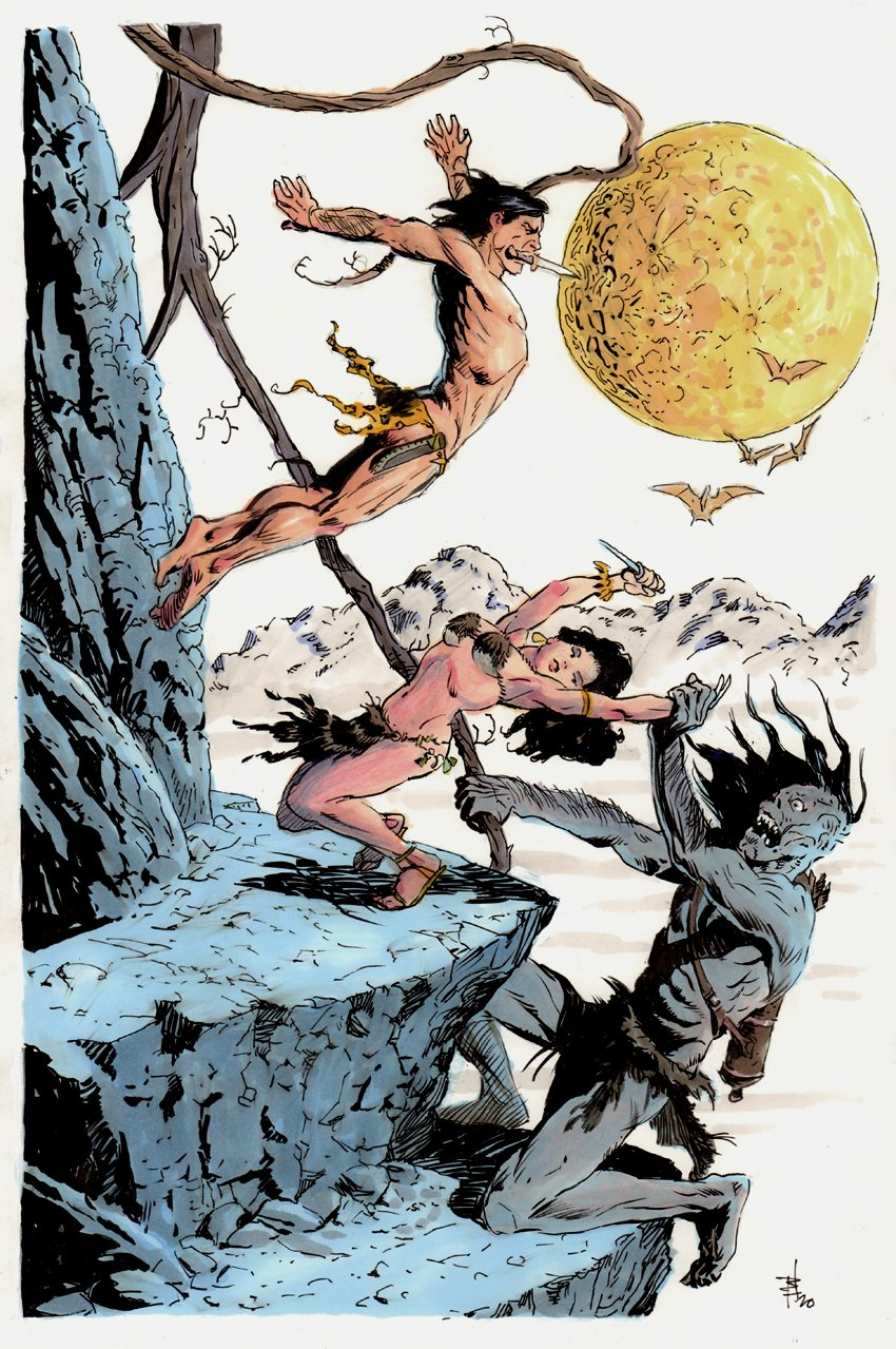 Tarzan At The Earth's Core Published Pinup (2020)