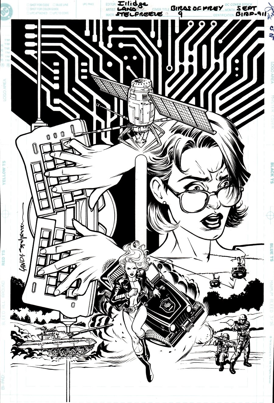 Birds of Prey #9 Cover (Black Canary, Oracle!) 1999