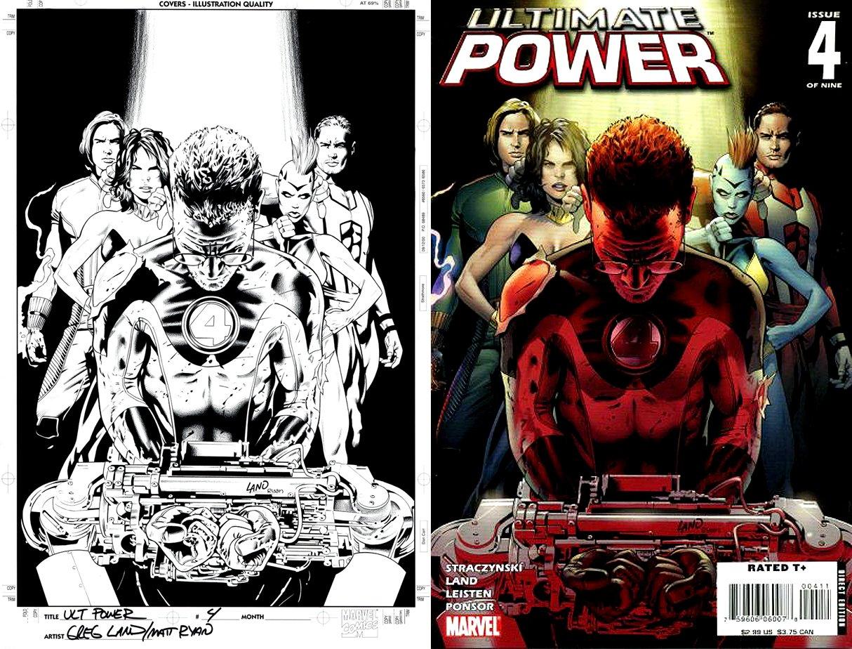 Ultimate Power #4 Cover (Mister Fantastic, Squadron Supreme: Amphibian, Doctor Spectrum, Hyperion, Power Princess) 2007