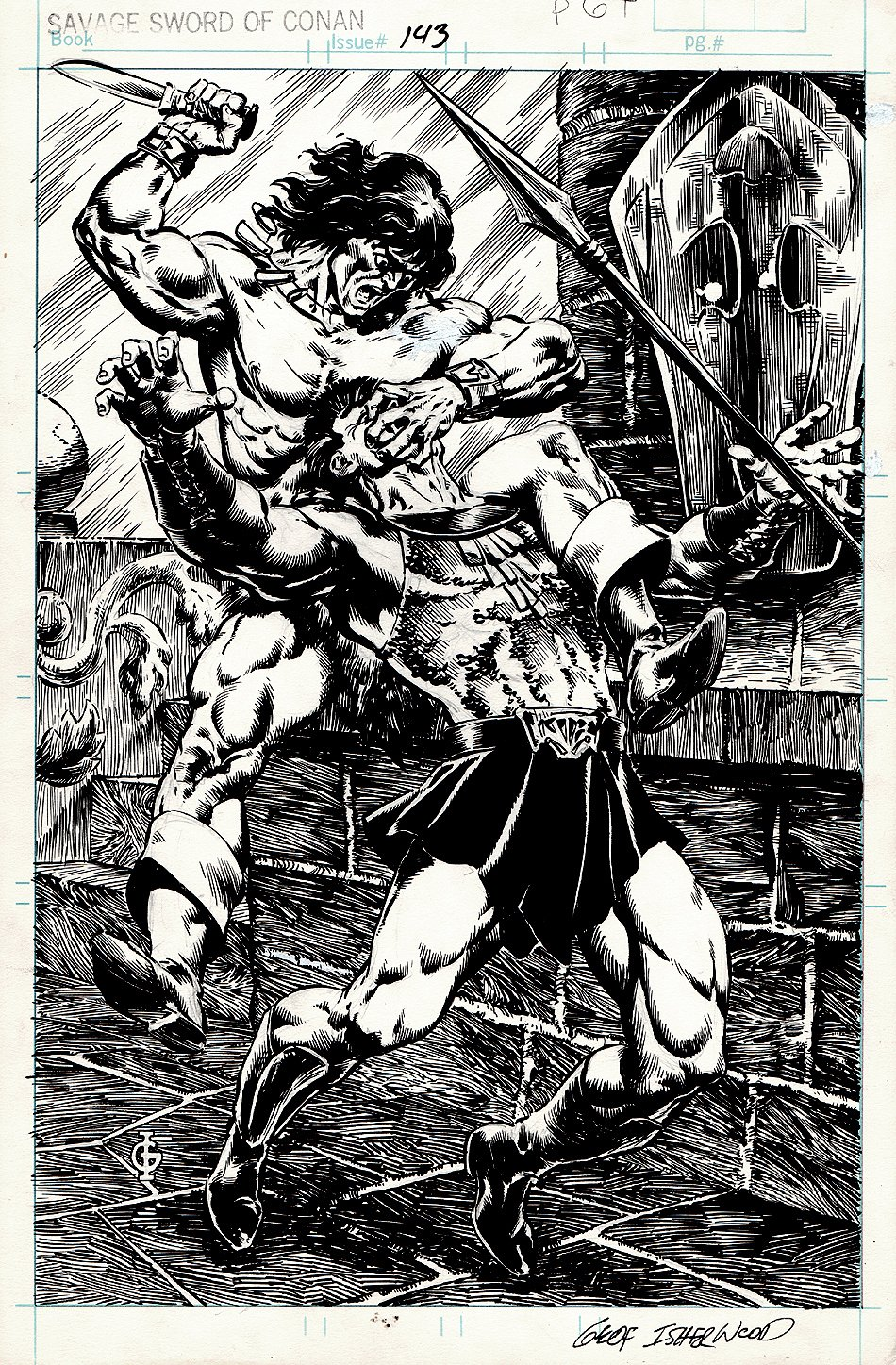 Savage Sword of Conan #143 Published SPLASH (1987)