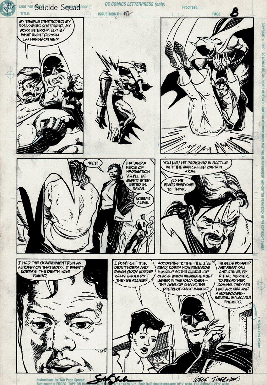 Suicide Squad #42 p 6 (BATMAN!) 1990