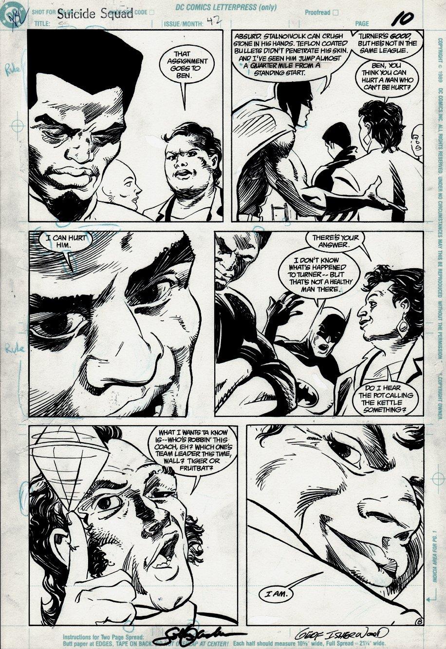 Suicide Squad #42 p 8 (BATMAN!) 1990