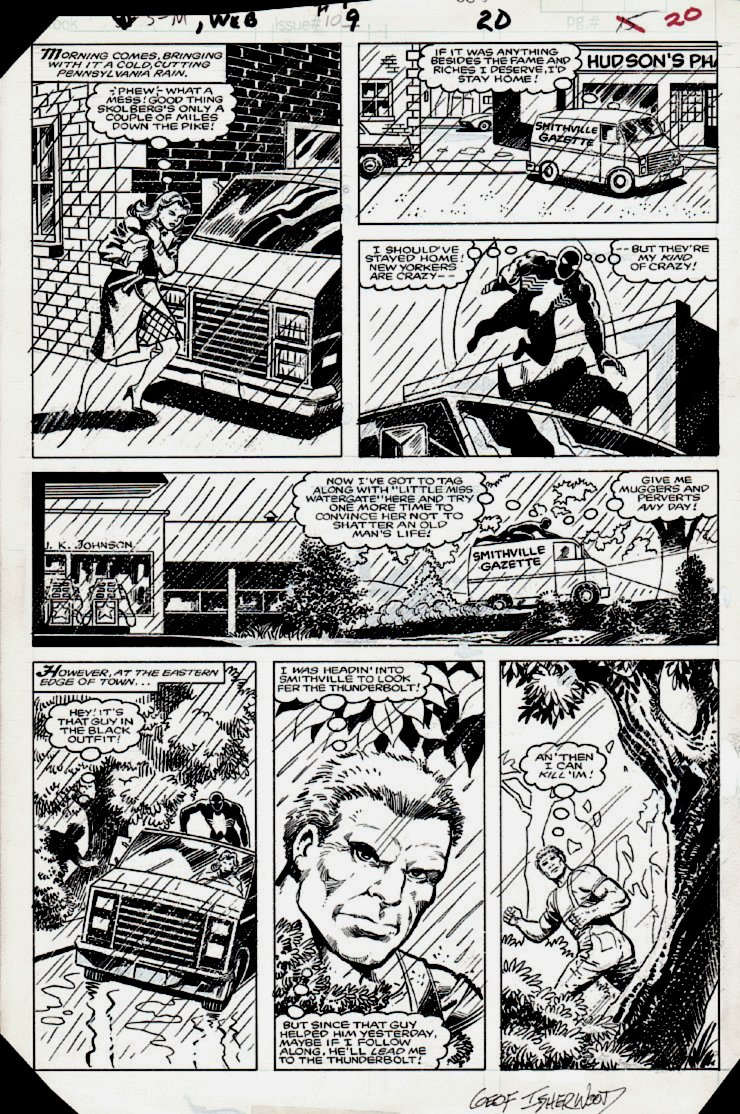 Web of Spider-Man #9 p 20 (1985 'EARLY' BLACK COSTUME SPIDER-MAN!)