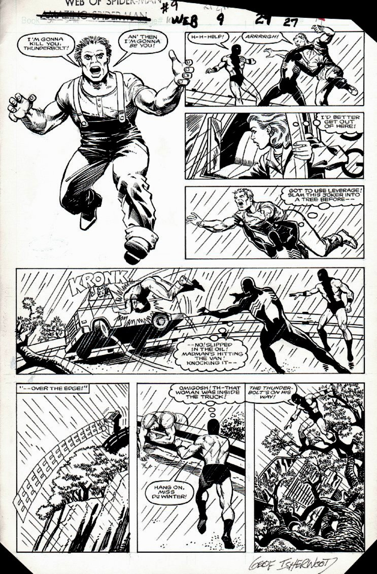 Web of Spider-Man #9 p 27(SOLD LIVE ON 'DUELING DEALERS OF COMIC ART' EPISODE #30 PODCAST ON 8-9-2021 (RE-WATCH THIS FUNNY ART SELLING SHOW HERE)