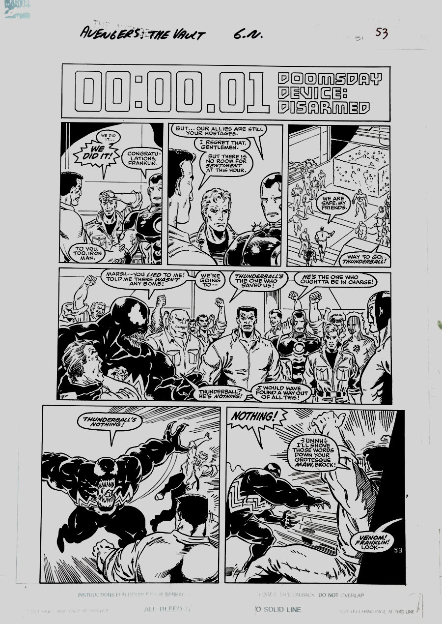 Avengers: Death Trap, The Vault p 53 (Large Art) 1991