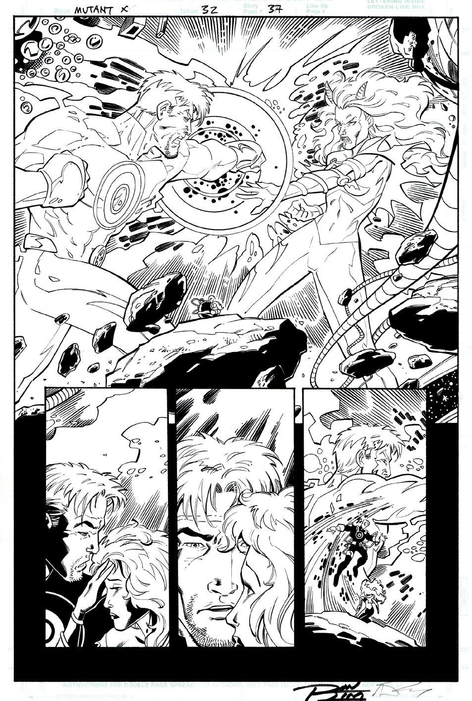 Mutant X #32 p 37 (Havok Destroys The Goblin Queen!) 2001
