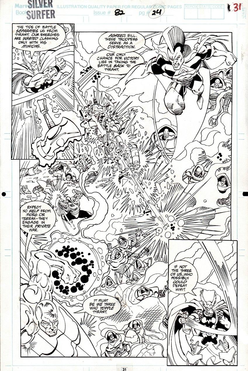 Silver Surfer #82 p 31 SPLASH (1993)