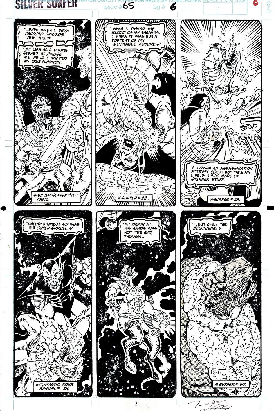 Silver Surfer #65 p 6 (Silver Surfer, Reptyl, Super Skrull!) 1992