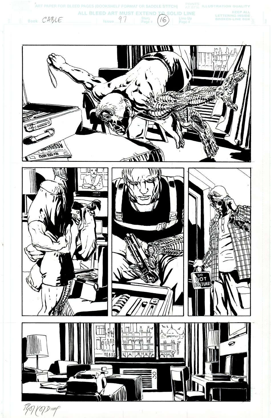 Cable #97 p 16 (Cable Leaps Into His Apartment!)