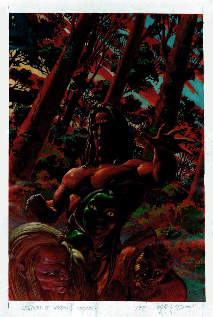 Edgar Rice Burroughs' Tarzan: A Tale of Mugambi #1 Cover Painting (1995)