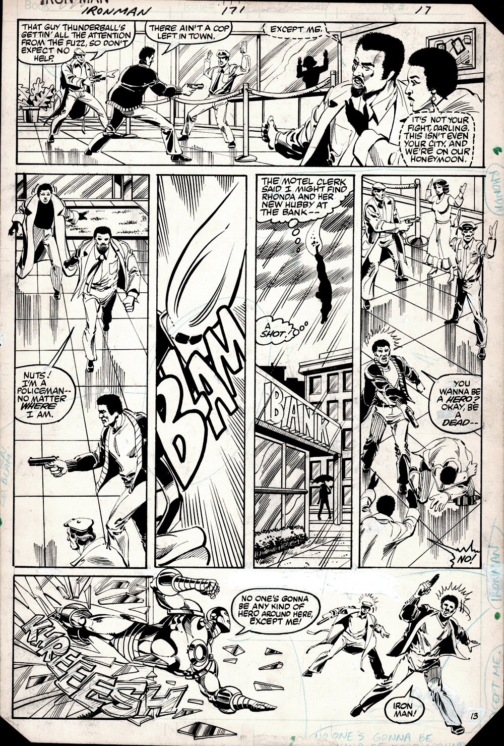Iron Man #171 p 13 (2nd Jim Rhodes As Iron Man, Battle!) 1983