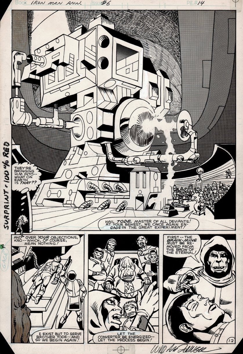 Iron Man Annual #6 p 12 SPLASH (1983)