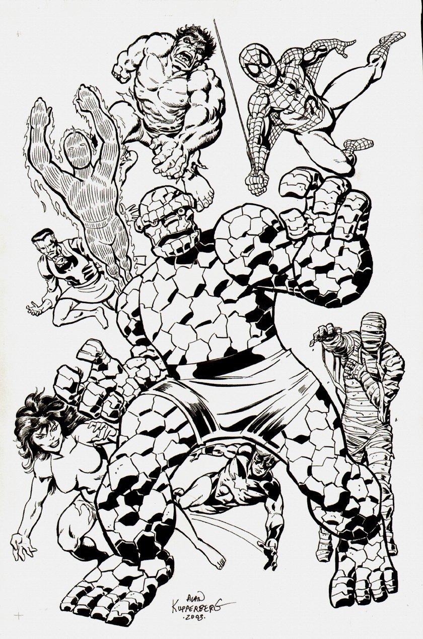 Marvel: 8 Super-Heroes Pinup (2003)