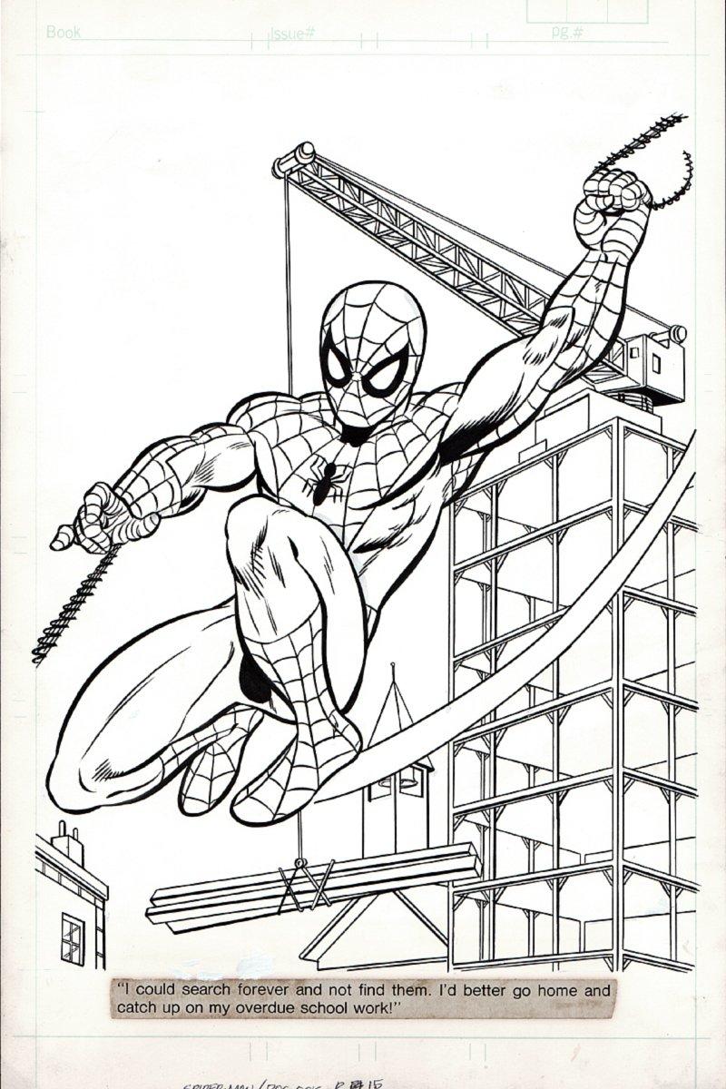 Spiderman/Dr. Octopus #1 p 15 SPLASH (LARGE SPIDER-MAN!) 1980s