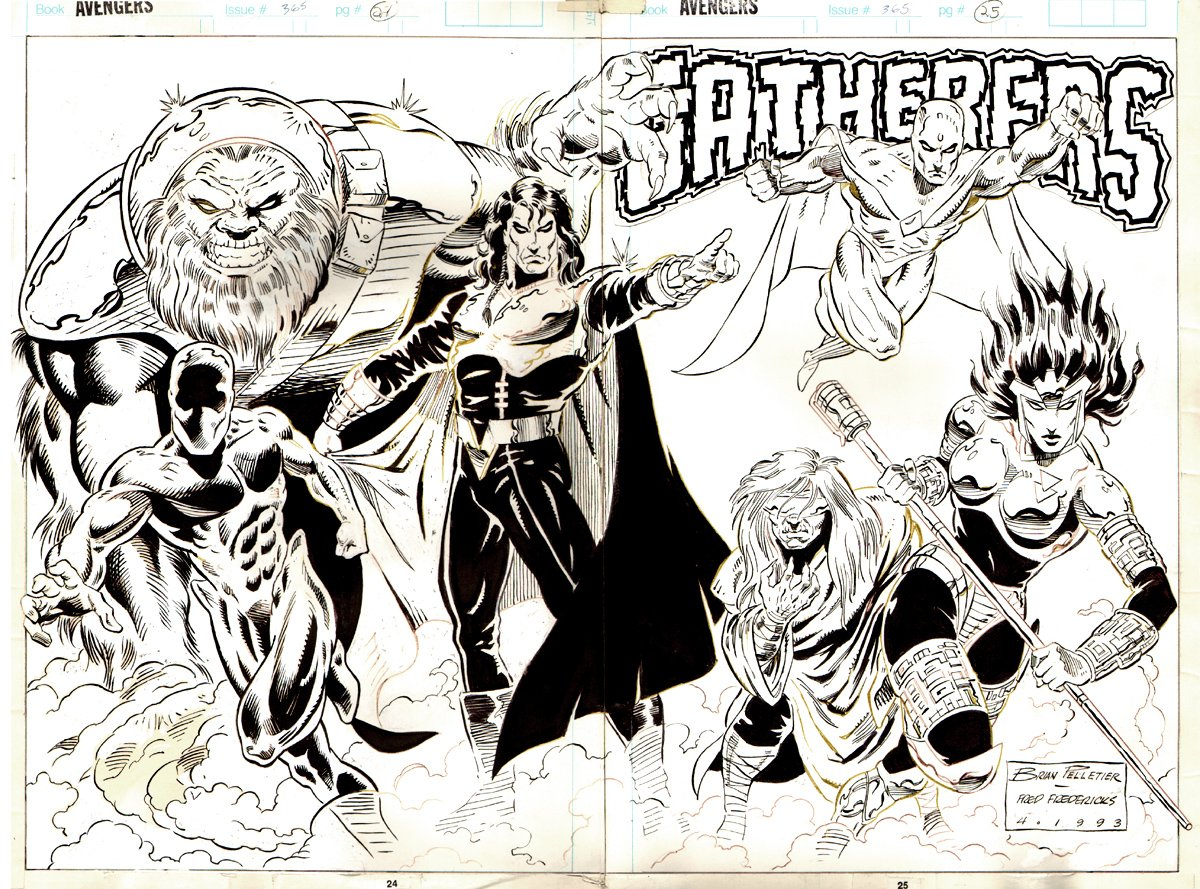 Avengers #365 p 24-25 (2 page Page Pinup) 1993