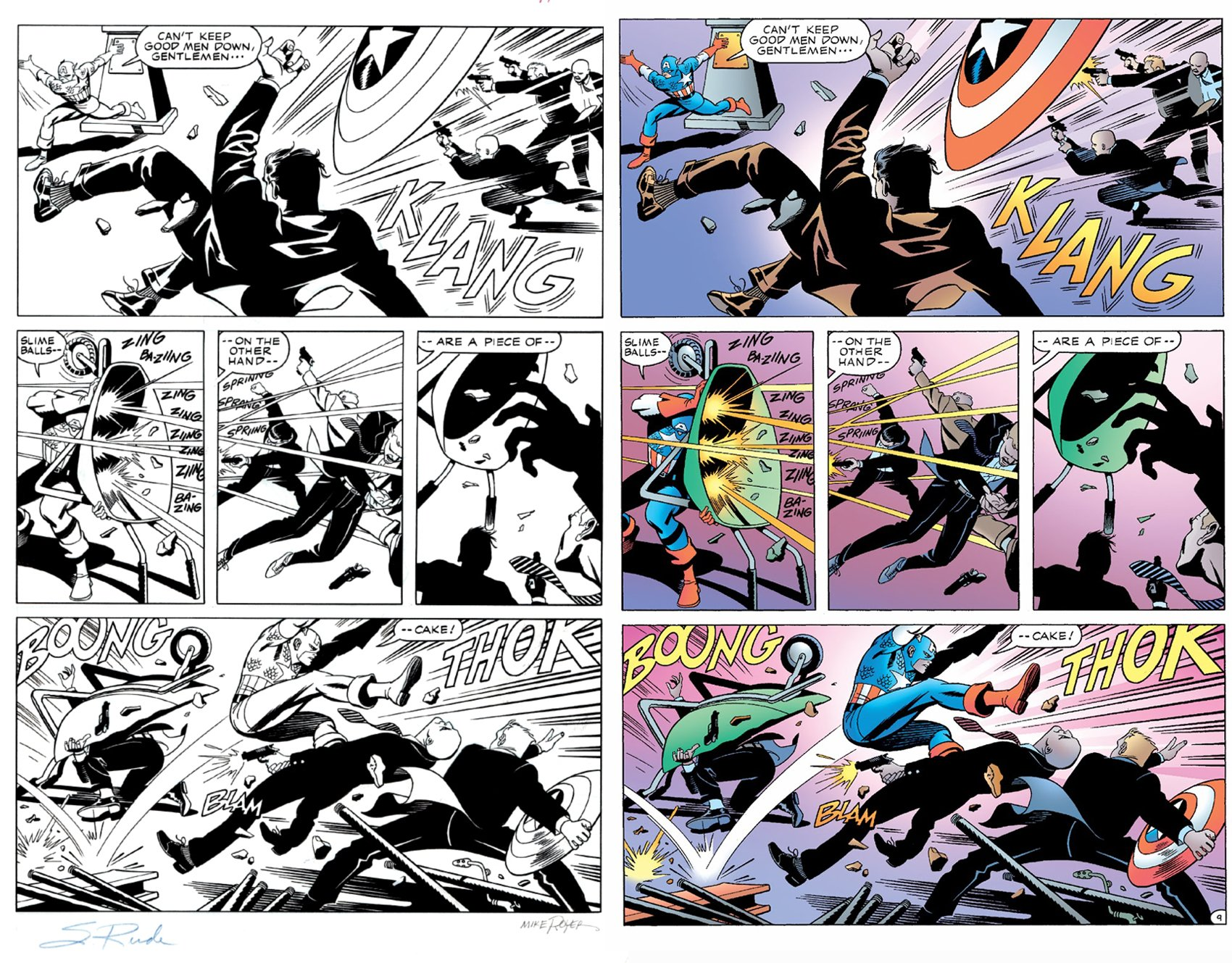 Captain America: What Price Glory #2 p 9 (SOLD LIVE ON 'DUELING DEALERS OF COMIC ART' EPISODE #31 PODCAST ON 8-14-2021(RE-WATCH THIS FUNNY ART SELLING SHOW HERE)