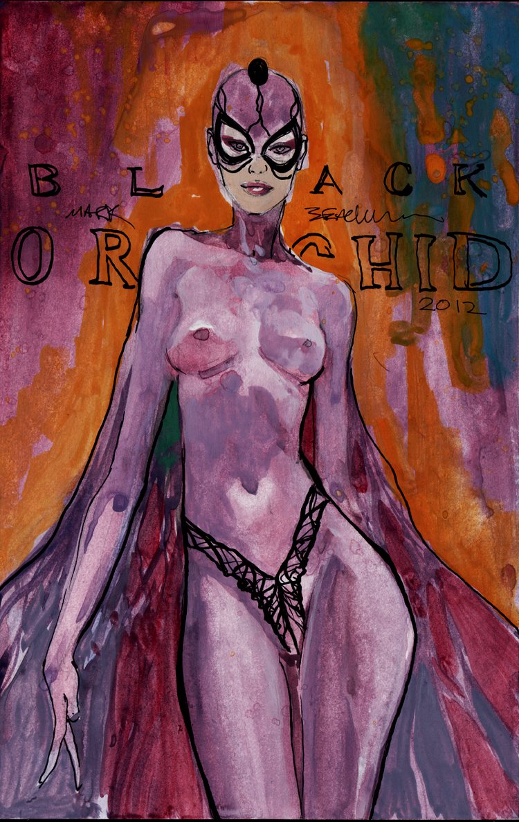 Black Orchid Painting (2012)