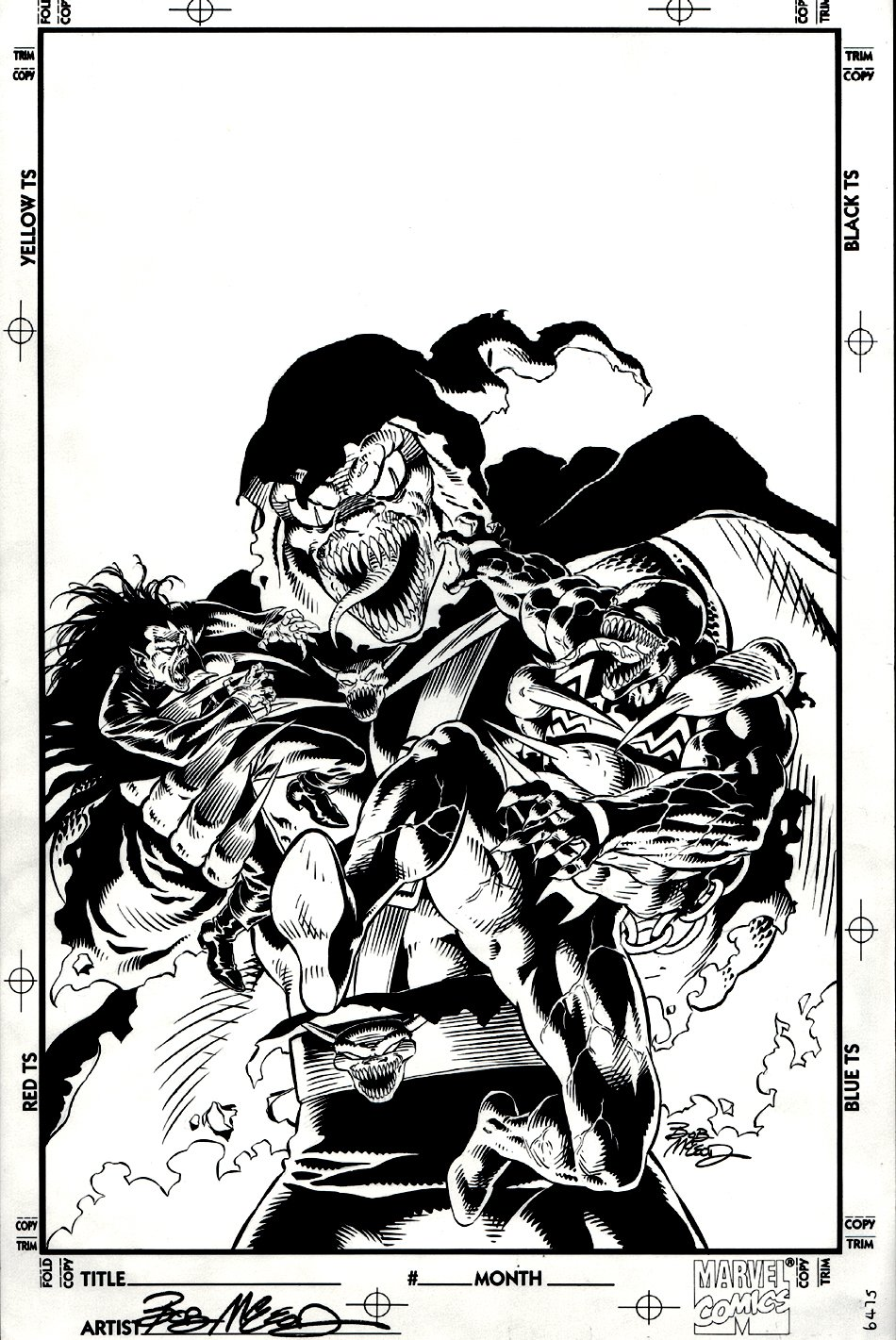 Venom: The Enemy Within #3 Unpublished Cover (1994)