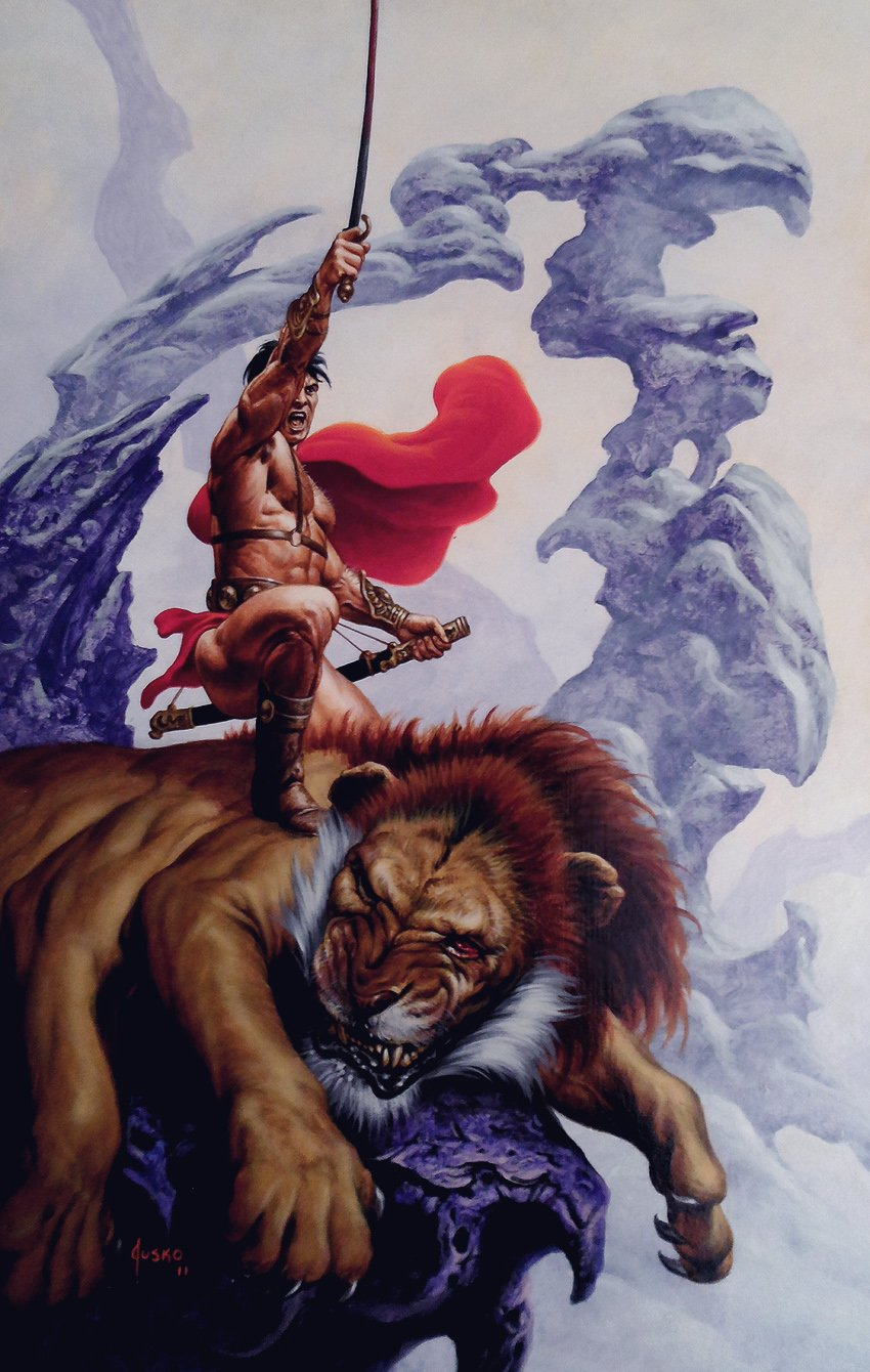 Warlord of Mars #10 Cover Painting (Large) 2011