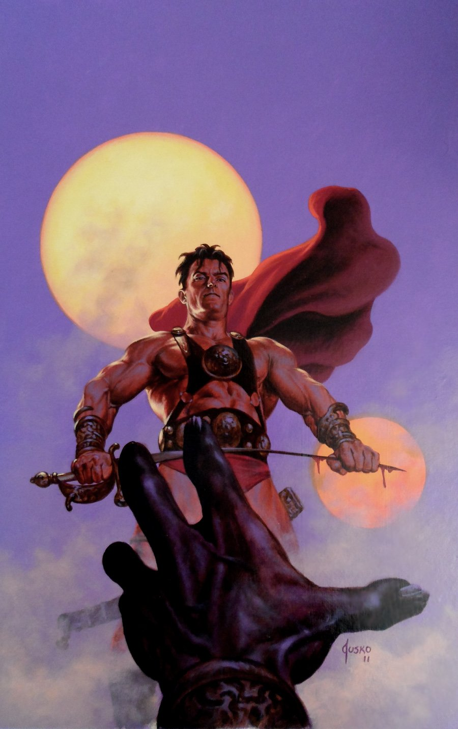 Warlord of Mars #12 Cover Painting (Large) 2012