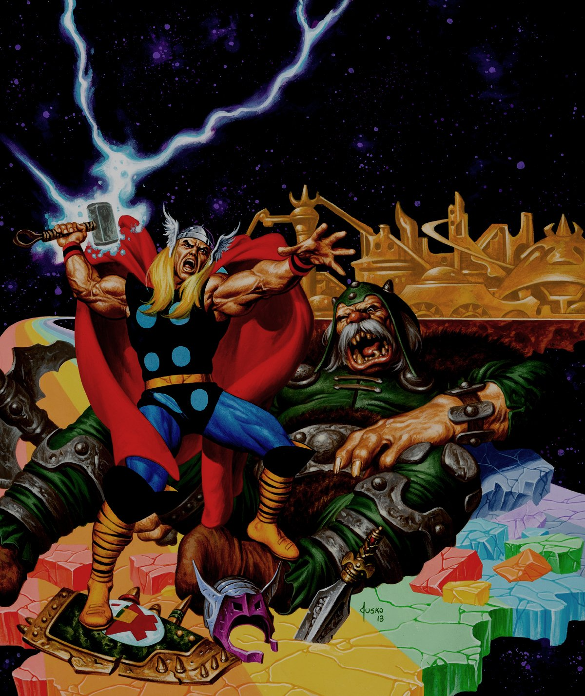 Thor Very Large Published Painting For Resin Box Art (2013)