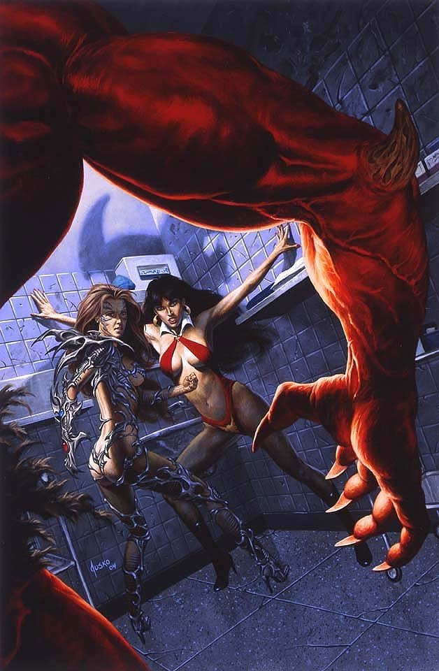 Vampirella / Witchblade: Union of the Damned #1 Very Large Cover Painting