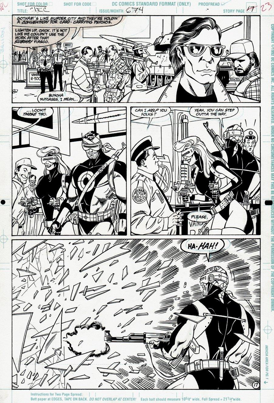 Detective Comics #674 p 17 (VERY FIRST GUNHAWK & BUNNY!)