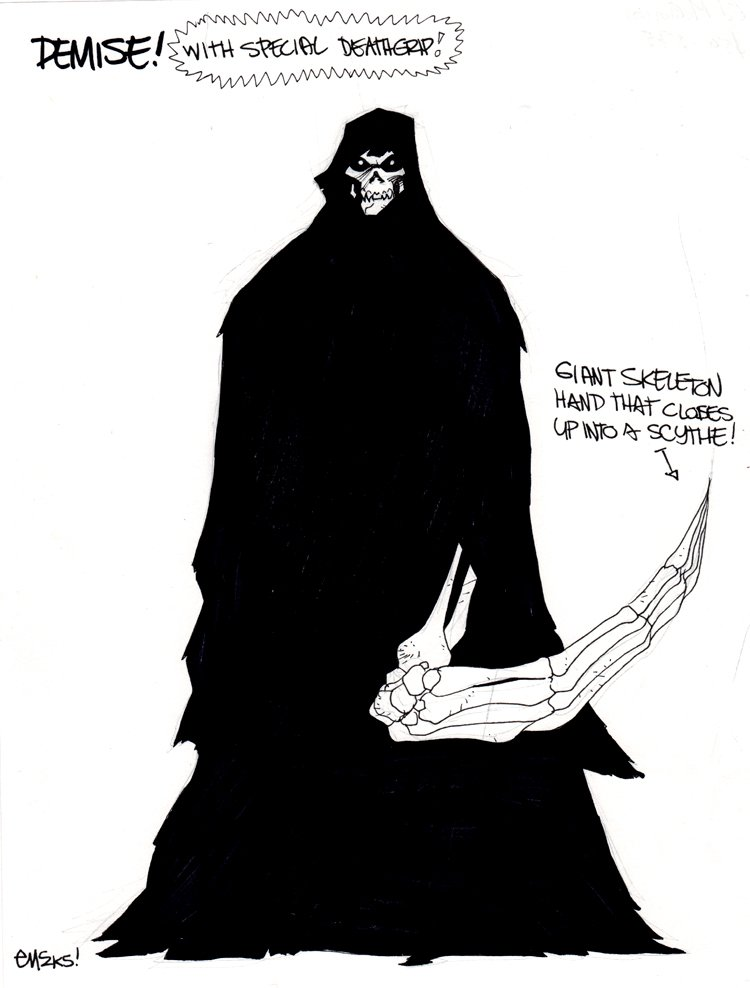 'Demise' Villain Character Study Used For Superman / Batman #20 (2005)
