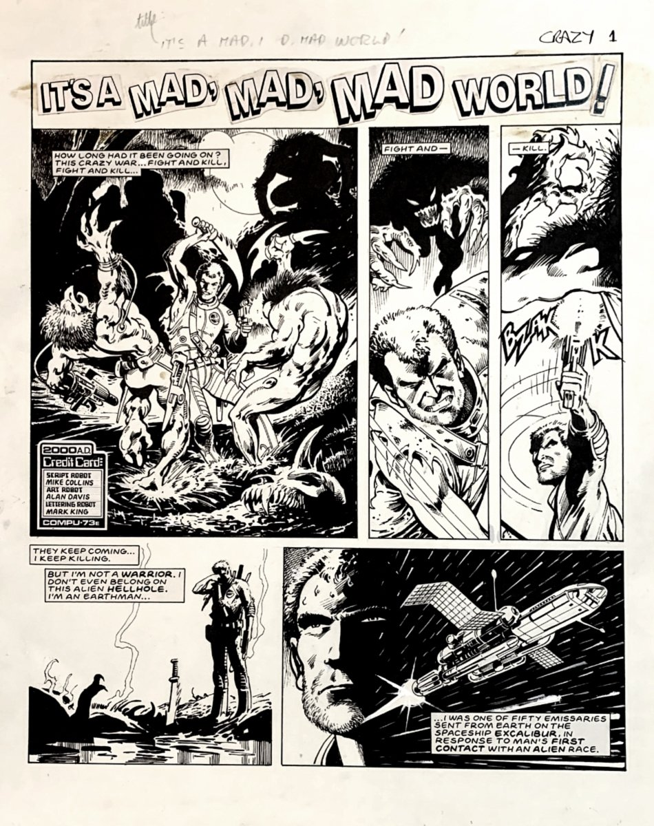 2000 AD #509 (Complete 5 Page Story) Large Art - 1986